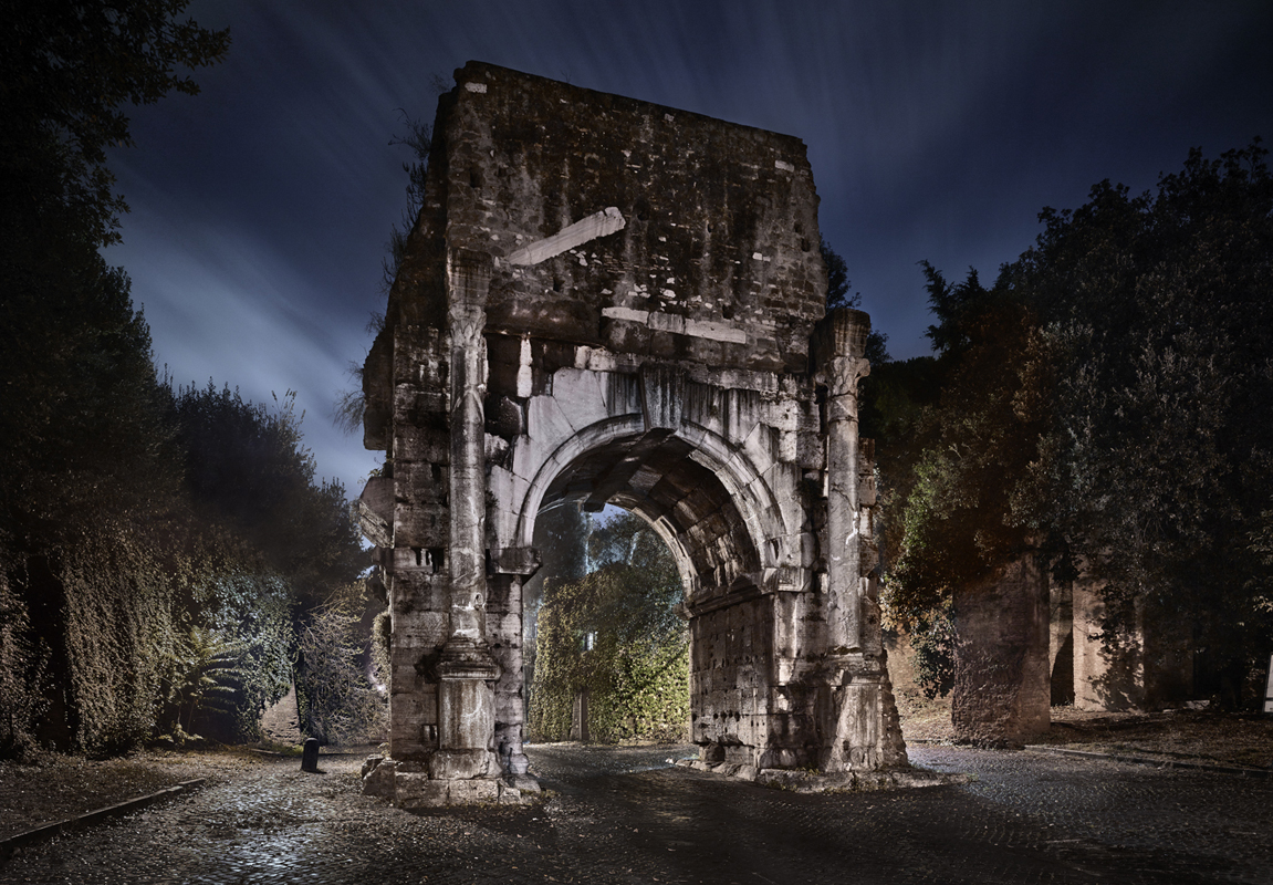 Old architectural ruins in Copa, shot by photographer Luca Campigotto