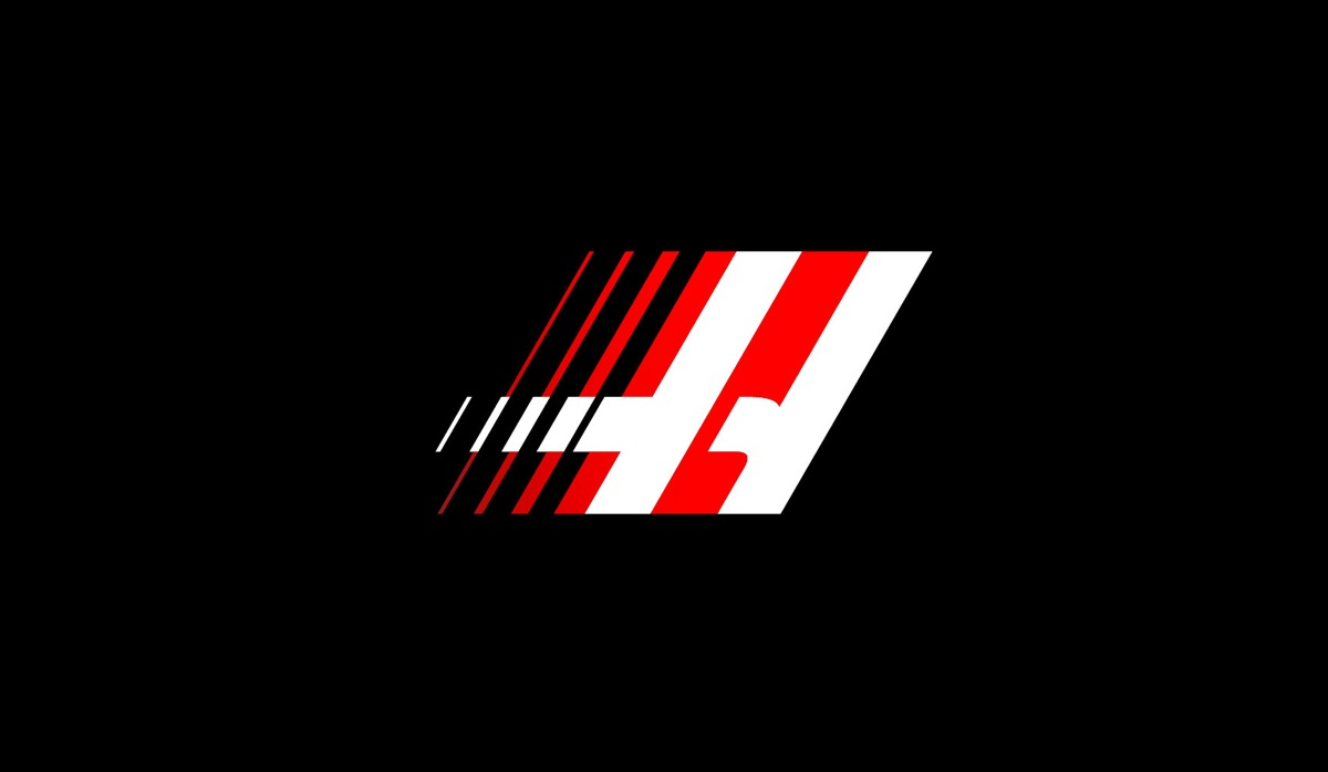 My initially proposed logo for the team simply put the existing 'H' marque of Haas at speed