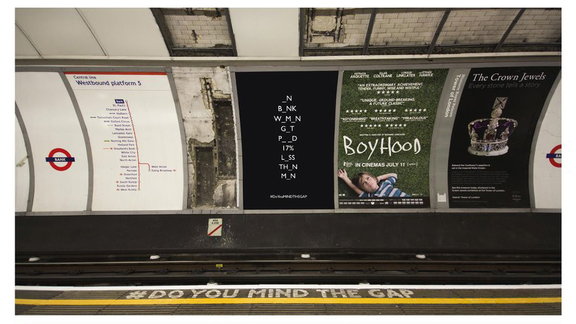 Pippa Allen's #doyouMINDTHEGAP project for the DA&D New Blood Awards
