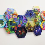 Sujay Narayan's series of hexagonal works, on show as part of the Pictoplasma Academy exhibition (sujaynarayan.com)