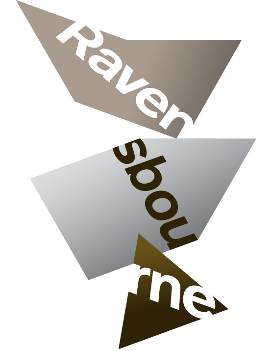 Previous Ravensbourne logo, designed by johnson banks