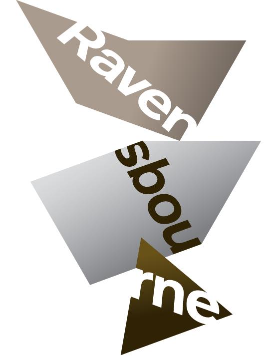 Previous Ravensbourne logo, designed by johnson banks