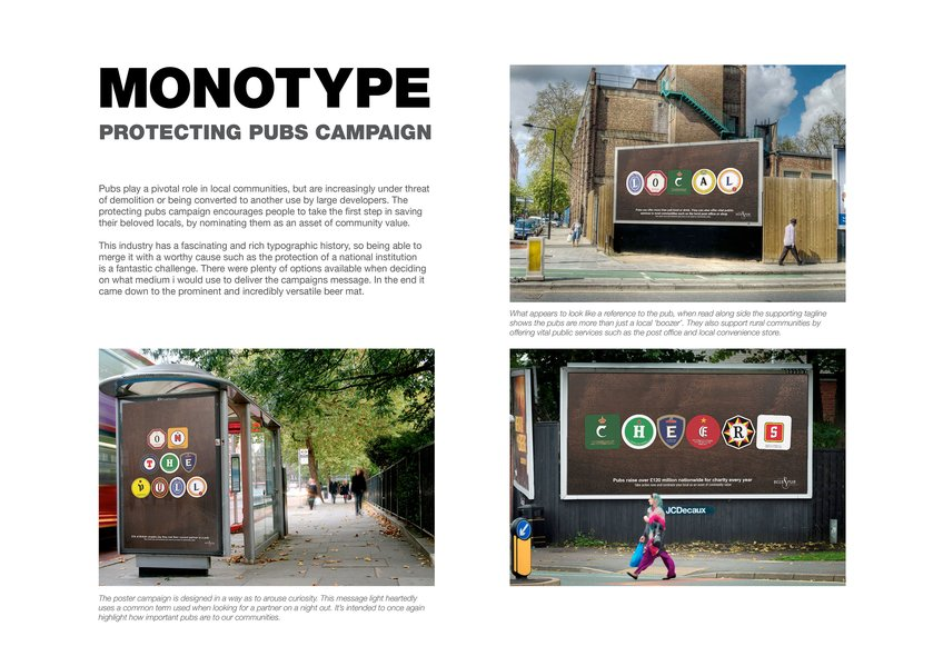 Protecting Pubs Campaign by Neil Bennison for D&AD New Blood