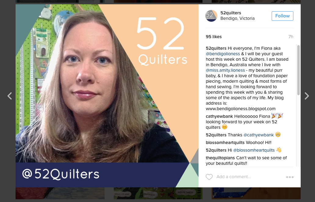 @52quilters on Instagram