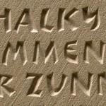 Stone inscription by Anna Bowen