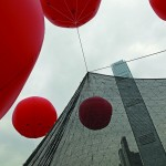 Outdoor art installation With the wind by Jiakun Architects