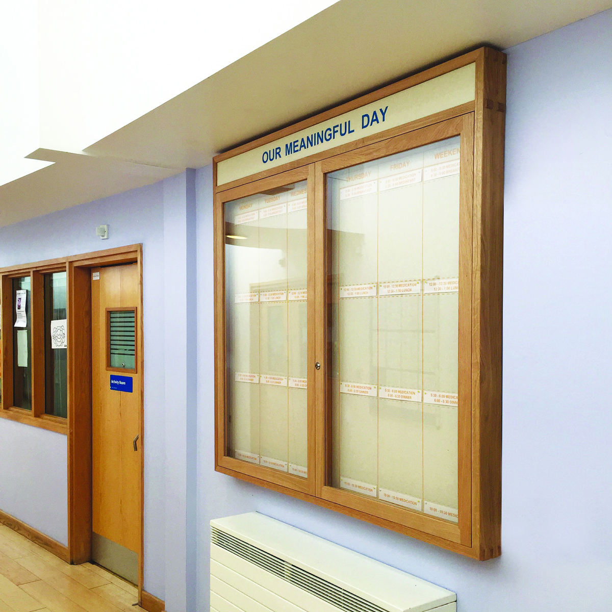Hospital rooms a new project using art and design to for Creative notice board