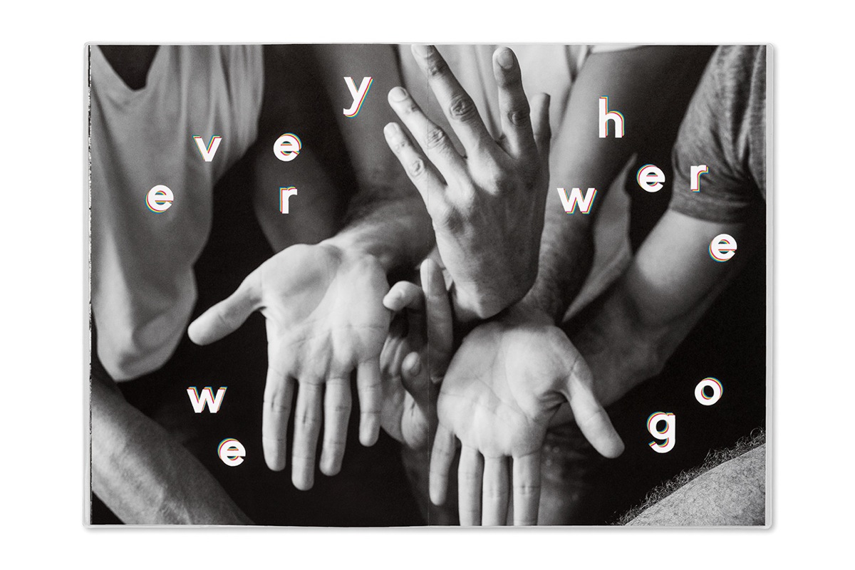 Opening spread of 'Everywhere We Go', featuring the choreography of Justin Peck
