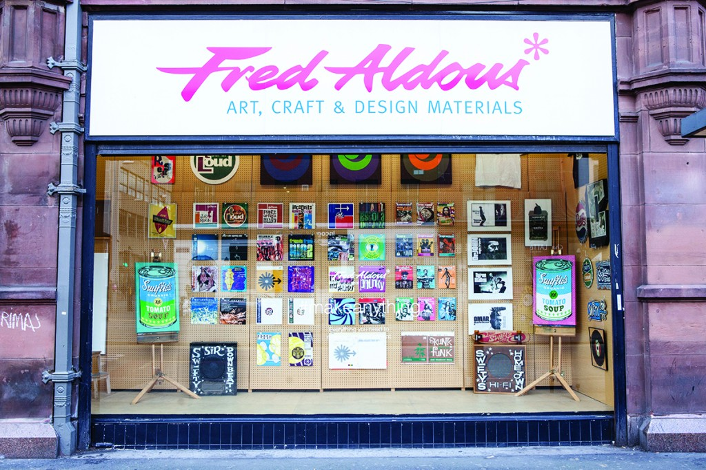 The Fred Aldous art and design materials shop in Manchester