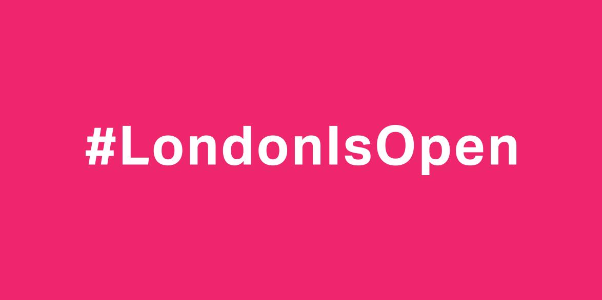 Sadiq Khan calls on creatives to declare #LondonIsOpen