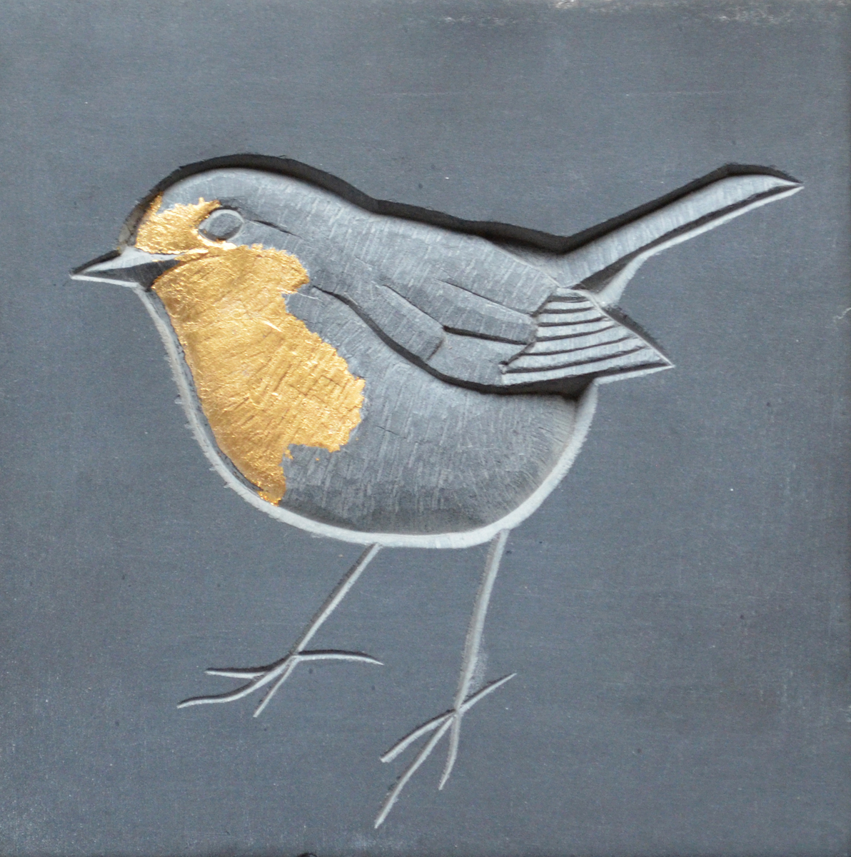 Slate carving by Louise Tiplady