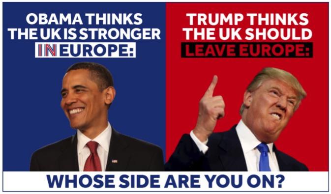 Remain ad Obama Trump