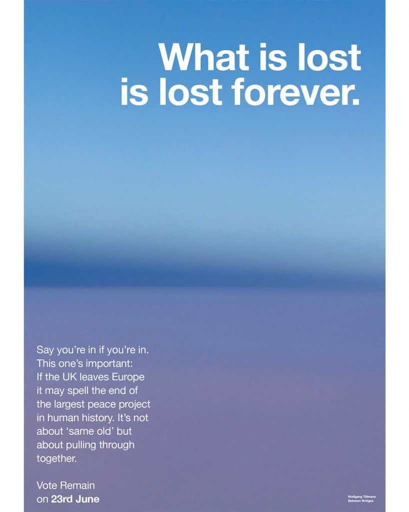 Poster by Wolfgang Tillmans
