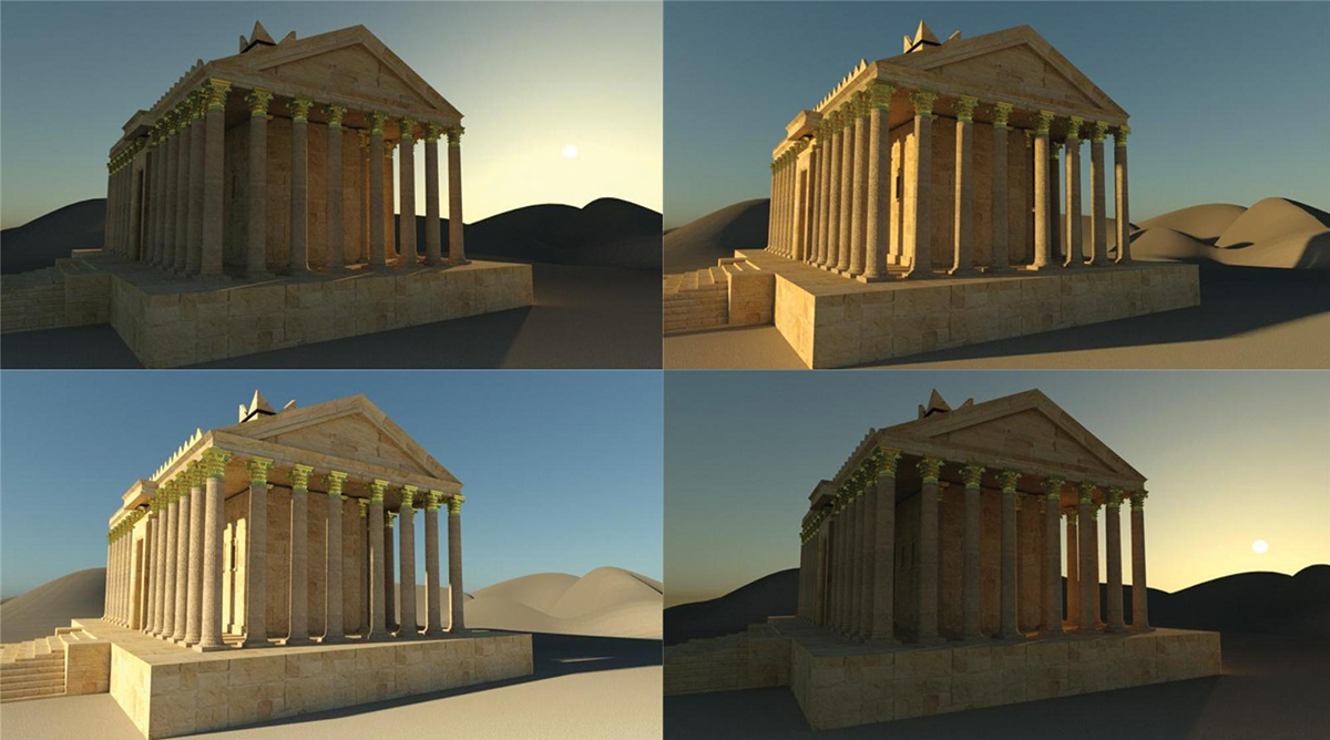 #NewPalmyra Temple of Bel model render by CEBAS VT (through Moskito)