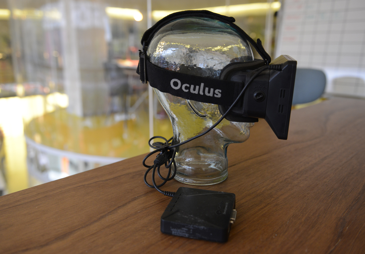 Above and top: Oculus DK1 headset