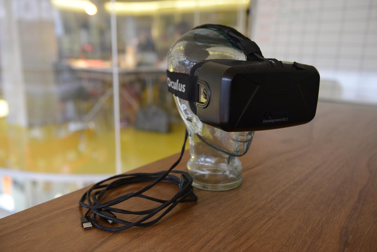 Above: Oculus DK2 headset