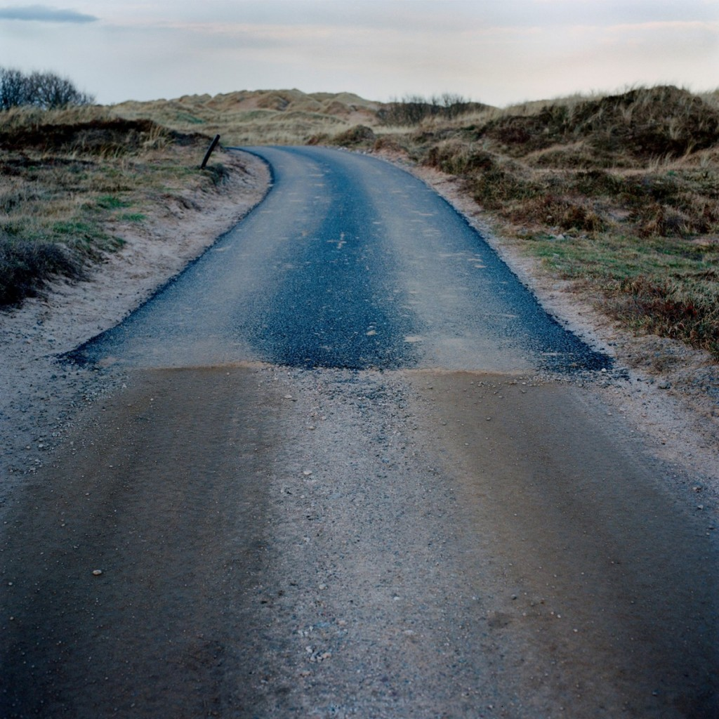 End of the tarmac road, Menie, Aberdeenshire, 2011. By Alicia Bruce. © Alicia Bruce, TRUMPED project