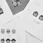 Initial sketches for One Direction emojis