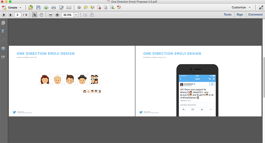 Work in progress on the One Direction emojis
