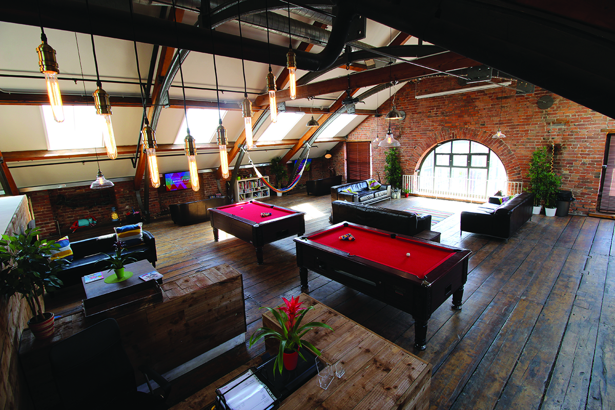 Co-working spaces like the beehive lofts are ideal for creative freelancers