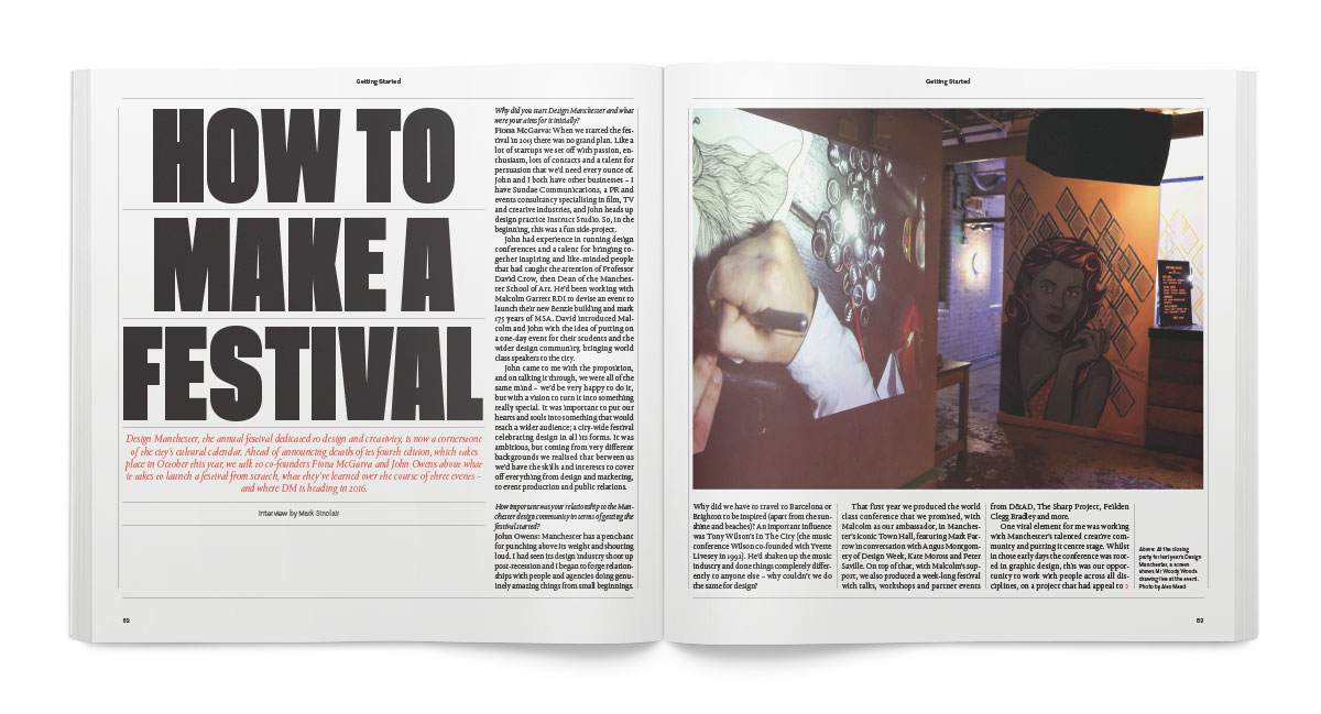 Fiona McGarva and John Owens on the lessons learned from creating the Design Manchester festival