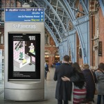 Screen featuring an illustration by Freya Morgan from Central Saint Martins