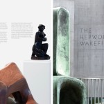 Exhibition signage in the Hepworth in Context gallery; The APFEL identity on the gallery's facade. All images © A Practice for Everyday Life; Lead image, The exterior of The Hepworth Wakefield, designed by David Chipperfield and featuring the identity by A Practice for Everyday Life