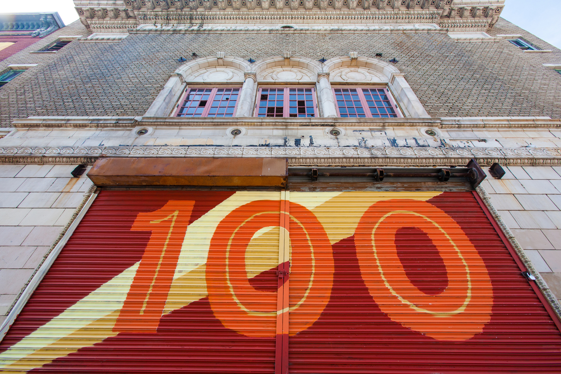 Parkway film centre campaign by post typography creative for 100th window vinyl