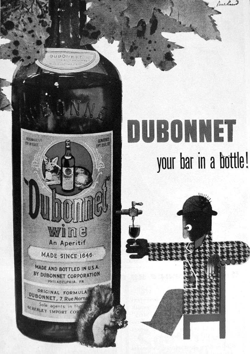 Print ad for Dubonnet