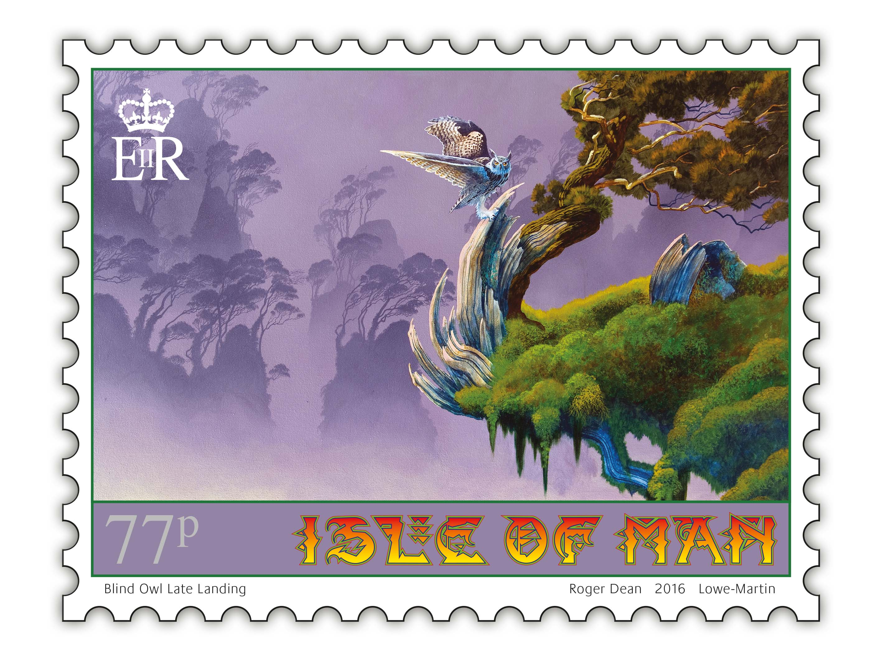 Oh yes roger dean designs stamps for isle of man post for Post office design your own stamps