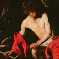 Image Credit: St. John the Baptist, c.1598-99 (oil on canvas), Michelangelo Caravaggio, (1571-1610) (attr. to) / Galleria Nazionale d'Arte Antica, Rome, Italy / Bridgeman Images