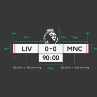 Premier League score clock guidelines by Dixon Baxi