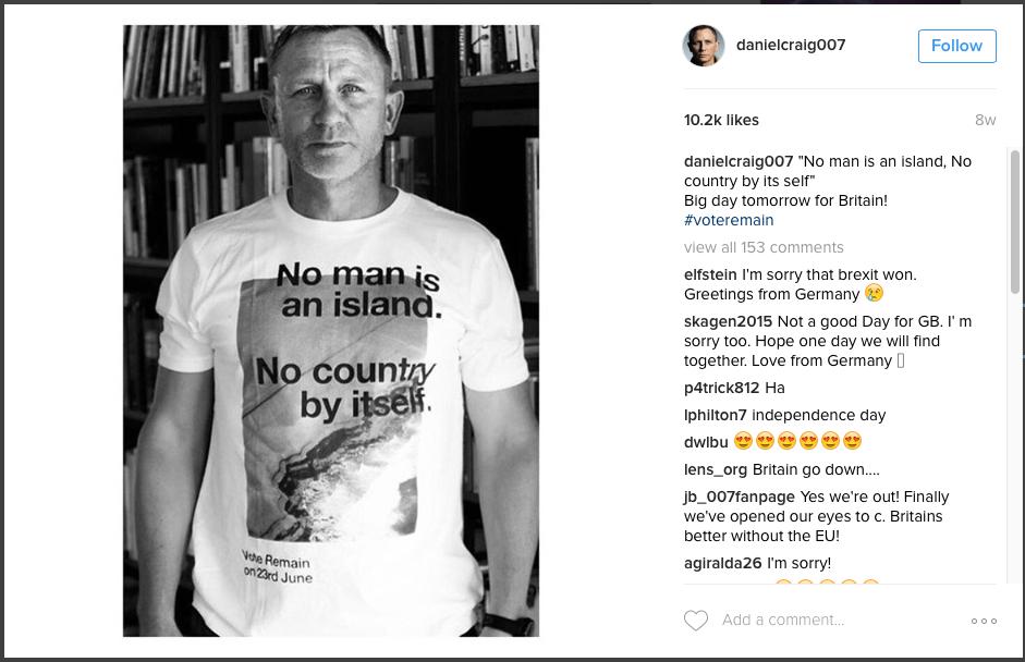 Daniel Craig Insta