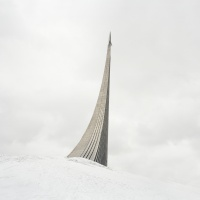 Danila Tkachenko. Monument to the Conquerors of Space. The rocket on top was made according to the design of German V-2 missile
