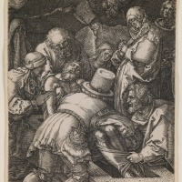"Image Credit: Deposition, from the series ""The Little Passion"", 1512 (engraving), Dürer or Duerer, Albrecht (1471-1528) / Saint Louis Art Museum, Missouri, USA / Museum purchase / Bridgeman Images"