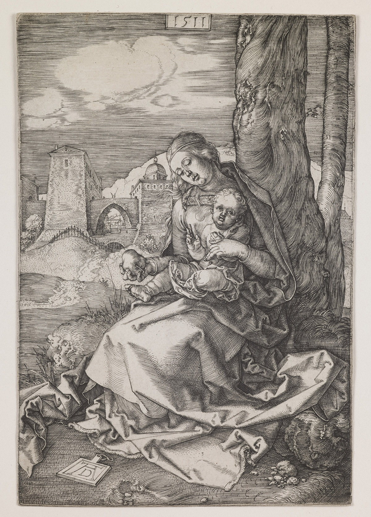 Image credit: Madonna with the Pear, 1511 (engraving), Dürer or Duerer, Albrecht (1471-1528) / Saint Louis Art Museum, Missouri, USA / Museum / Bridgeman Images