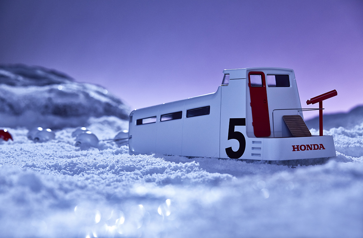 Model for the 'Honda. Great Journey' campaign designed by Map and crafted by Ogle models.