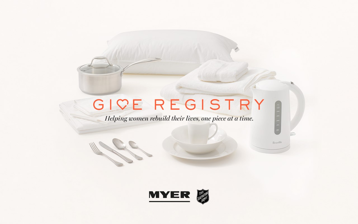 Give Registry Myer Salvation Army