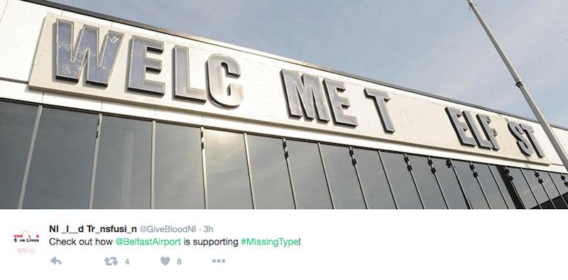 Belfast Airport NHS Missing Type
