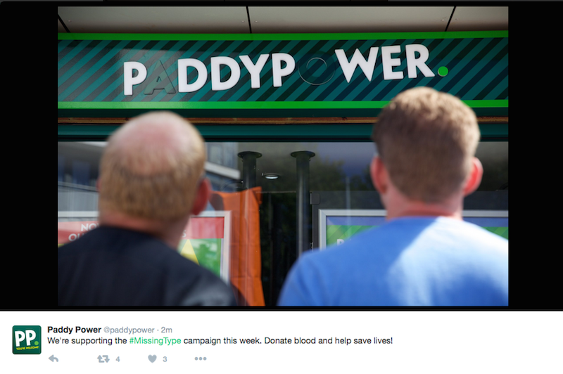 Paddy Power NHS Missing Type