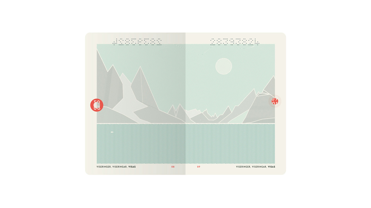 Neue's Norwegian passport design features illustrations of the country's scenery