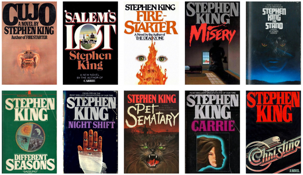 Stephen King novel covers, the inspiration behind the Stranger Things logo