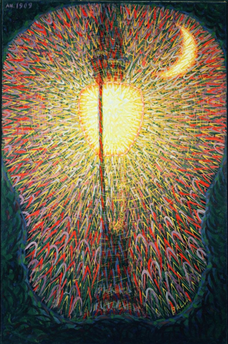 Street Lamp, study of Light, 1909 (oil on canvas), Balla, Giacomo (1871-1958) / Museum of Modern Art, New York, USA / Peter Willi / Bridgeman Images
