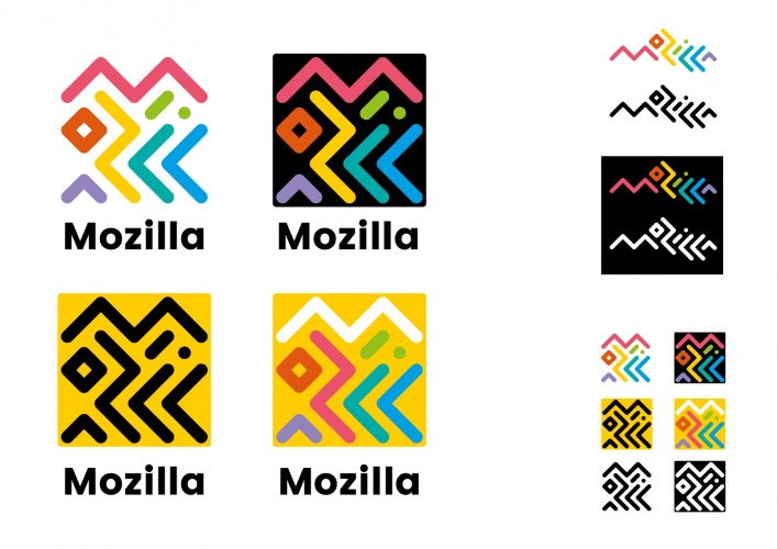 Route B: The Connector. Mozilla identity proposal by johnson banks