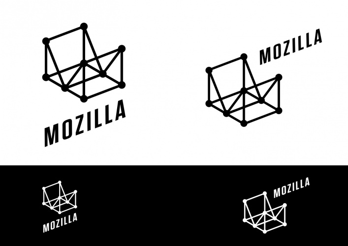 Route E: Wireframe World. Mozilla identity proposal by johnson banks