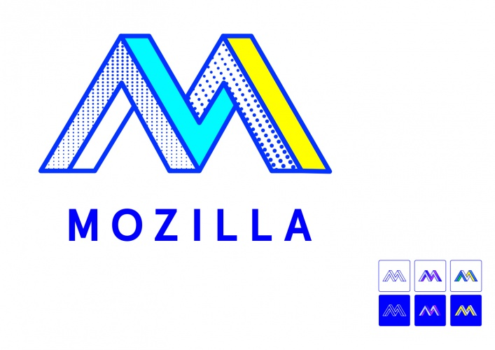 Route F: The Impossible M. Mozilla identity proposal by johnson banks