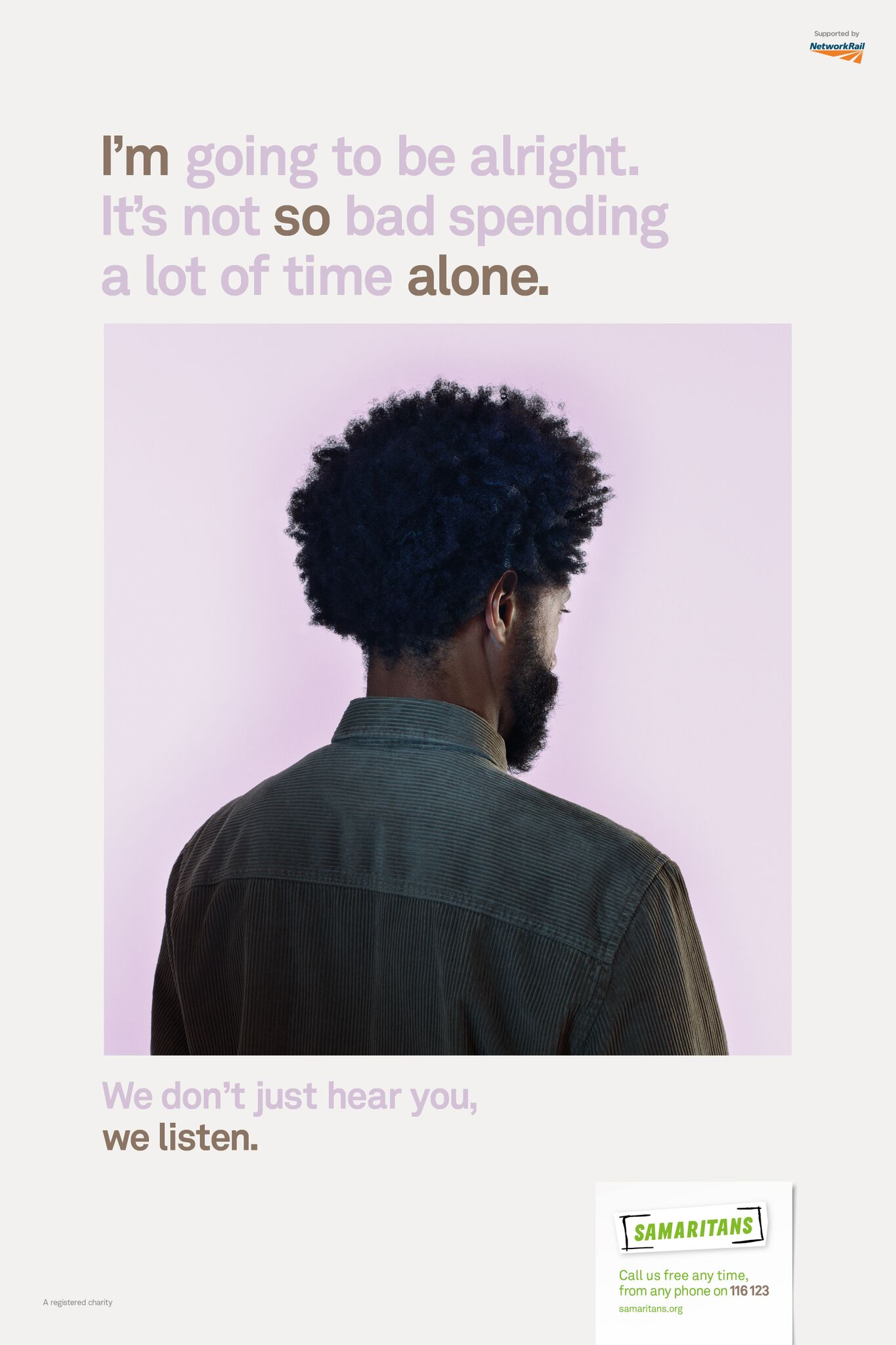MullenLowe's We Listen campaign for the Samaritans, shot by Nadav Kander