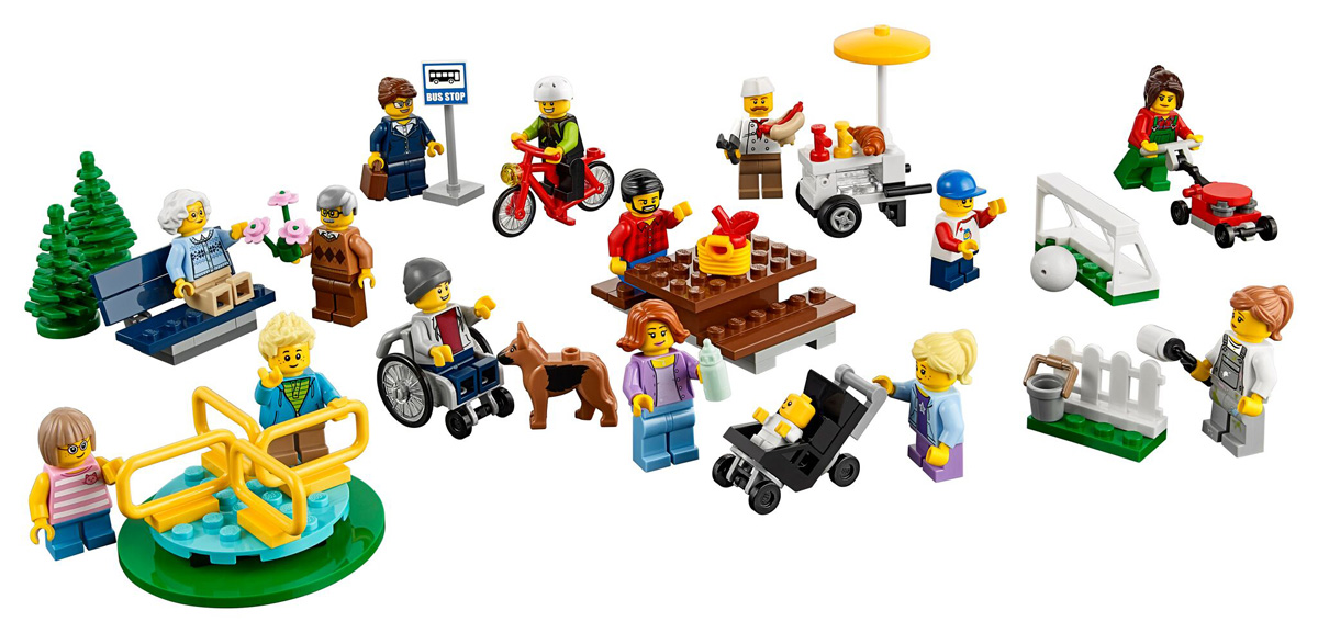 Lego's City Fun in the park set features a wheelchair user and a guide dog