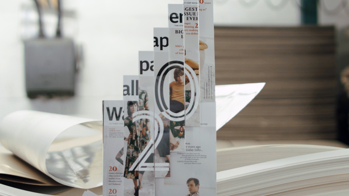 Wallpaper*'s anniversary issue. The cover was designed by Thomas Heatherwick