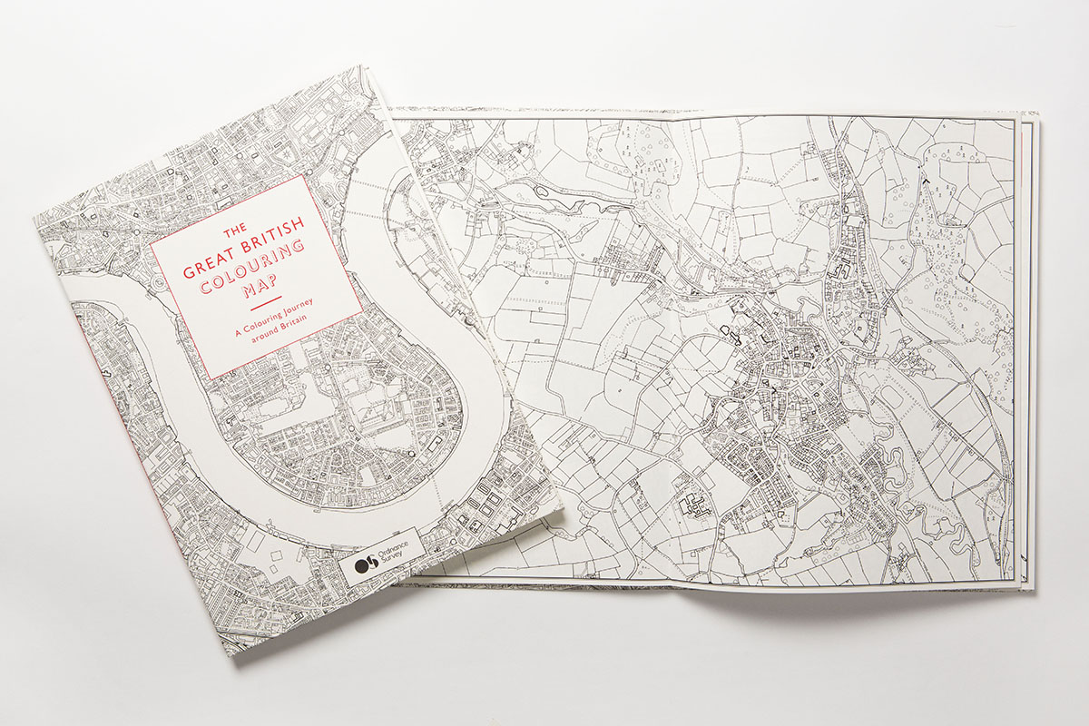 2016, The Great British Colouring Map, Ordnance Survey